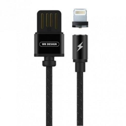 WK Design Magnetic Lightning Cable for Apple 100 cm - Black