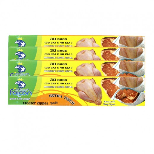Value Pack - Falcon Crown Freezer Zipper Bags (30 x 40 cm) 4 x 30 Bags