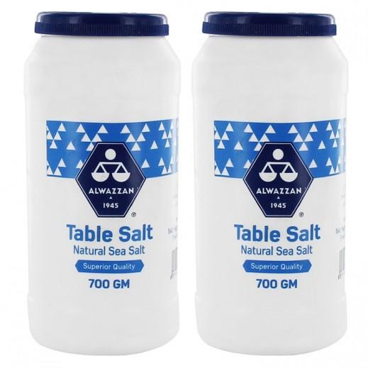Al Wazzan Salt Plastic Can 2x700 g