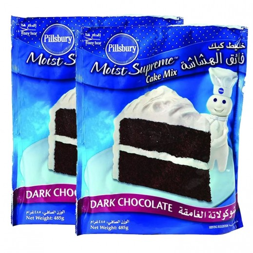 Pillsbury Cake Mix Dark Chocolate Flavour 2x485 g