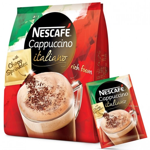 Nescafe Cappuccino Italiano with Choco Sprinkles Sachets 20x19.3 g