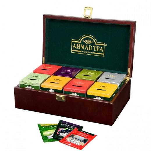 Ahmad Tea Keeper Wooden Box Tea 8x10 Tea Bags