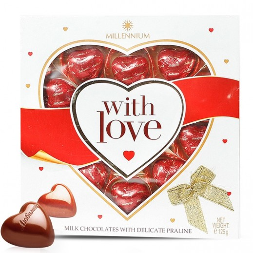 Millennium Hearts Milk Chocolate 125 g