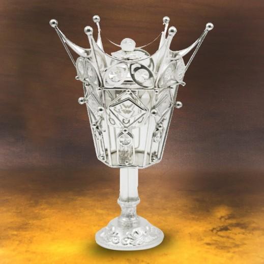 Sip Bakhoor Burner Silver Crown Shape