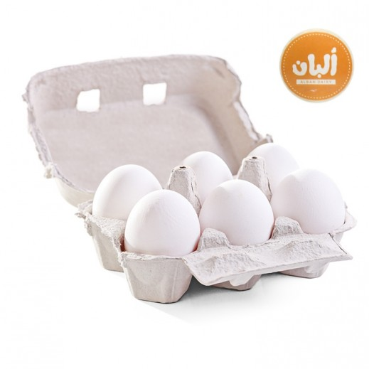 Alban Fresh Free Range Eggs Natural Feed 6 Pcs