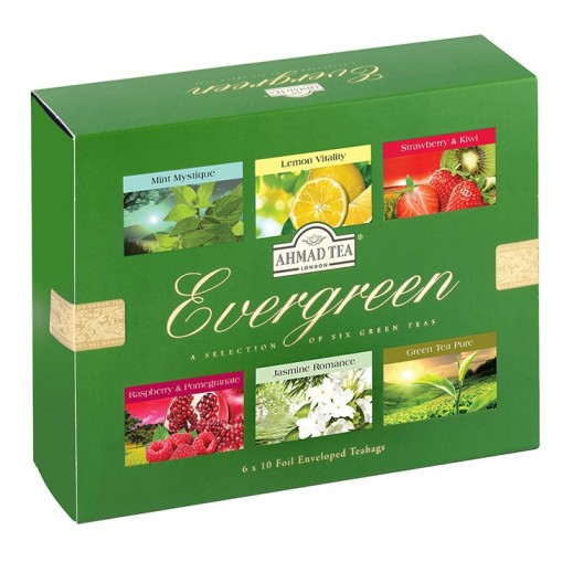 Ahmad Tea Ever Green Selection Tea 6x10 Tea Bag