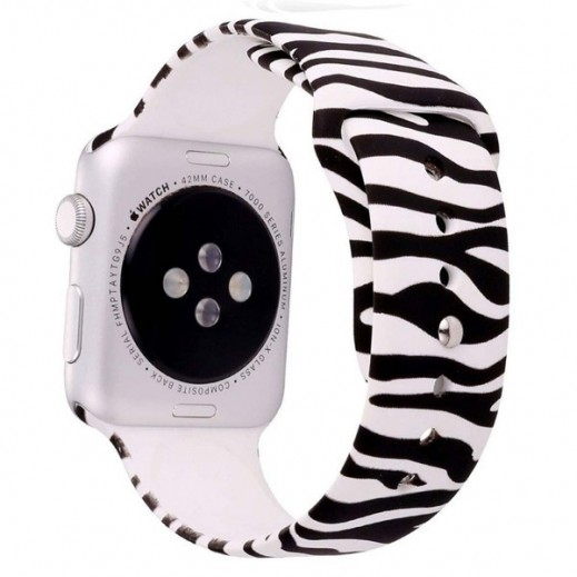 Wrist Strap for Apple Watch 42 mm - Black & White