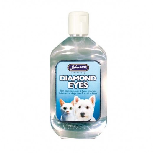 Johnsons Diamond Eye Tear Stain Remover Facial Cleaner for Cats & Dogs 250 ml