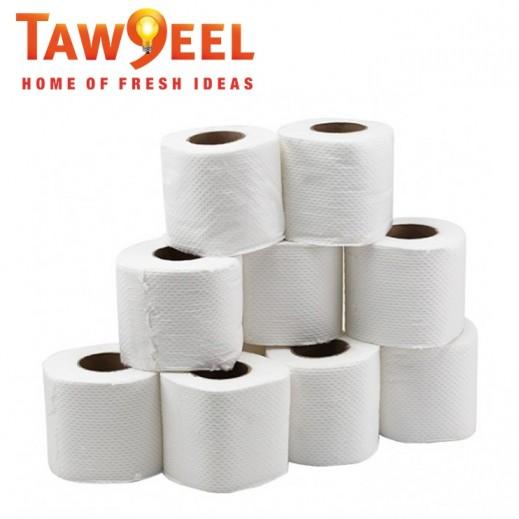 Taw9eel Embossed Toilet Rolls (10 cm x 25 m) 10 Pieces