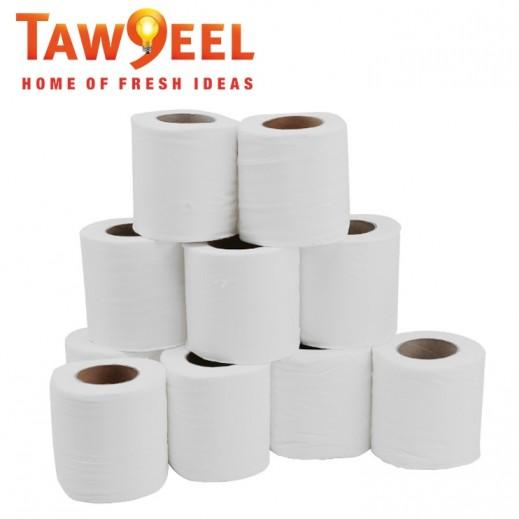 Taw9eel Pressed Toilet 10 Rolls (10 cm x 25 m)