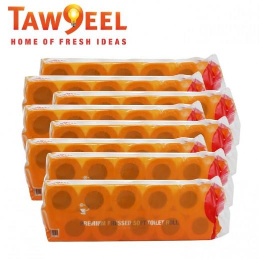 Taw9eel Pressed Toilet Rolls (10 cm x 25 m) 50 Pieces