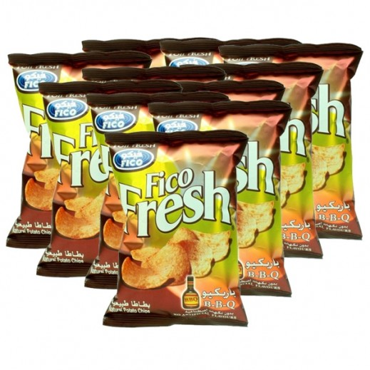 Fico Fresh B-B-Q Potato Chips 27 g (10 Pieces)