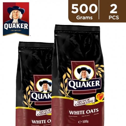 Quaker White Oats Pouch 2 x 500 g