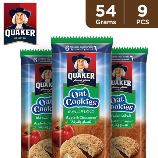 Quaker Apple Cinnamon Oat Cookies 9 x 54 g