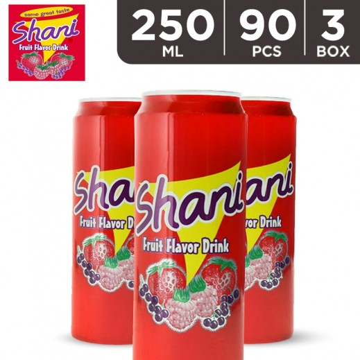 Wholesale - Shani Fruit Drink Can 250 ml (3x30 pieces)