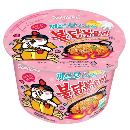 Samyang Hot Chicken Ramen Carbo Big Bowl 105 g