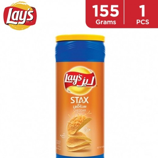 Lays Stax Cheddar Cheese Chips 155 g