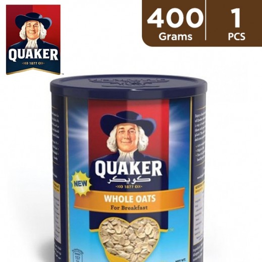 Quaker Whole Oats Tin 400 g