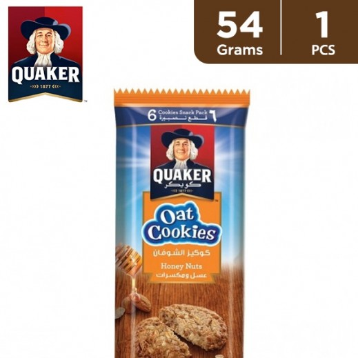 Quaker Honey & Nuts Oat Cookies 54 g