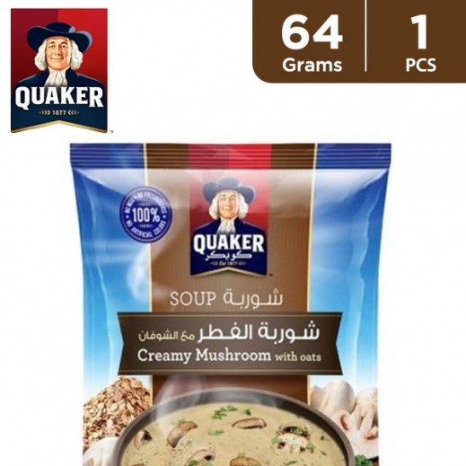 Quaker Creamy Mushroom Soup with Oats 64 g