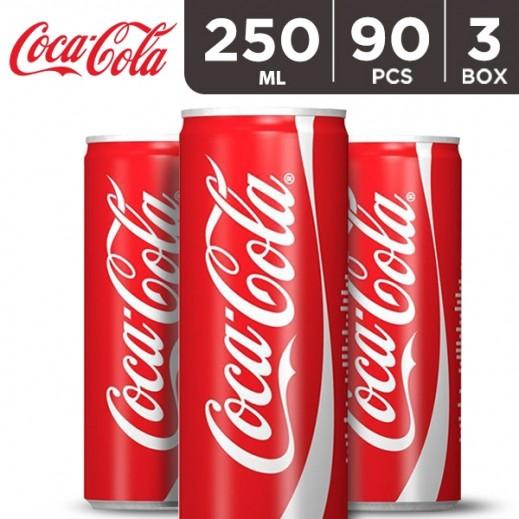 Coca Cola Can 250 ml (3 x 30 Pieces)
