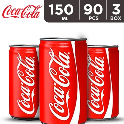 Coca Cola Can 150 ml (3 x 30 Pieces)
