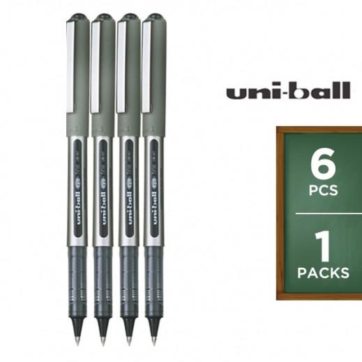 Value Pack - Uni-Ball Eye Fine Roller Pen - Black (6 pieces)
