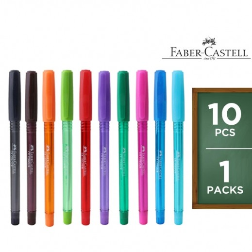 Faber Castell Color Ball Pen Set - 10 Pieces