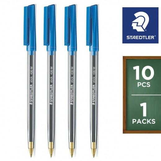 Staedtler Stick 430 Ballpoint Pen 10 pieces - Blue