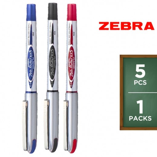 Zebra BE-AX5 0.5 mm Pen Set - 5 Pieces