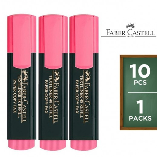 Faber Castell Textliner Highlighter Pink 10 pieces