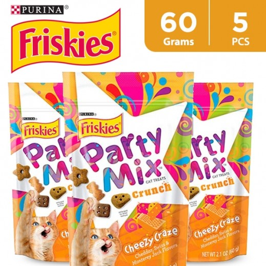 Friskies Party Mix Cheezy Craze (Cats Treats) 60 g (5 Pieces)