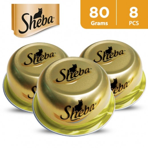 Sheba Dome Fine Cuts With Chicken Wet Cat Food 8x80 g