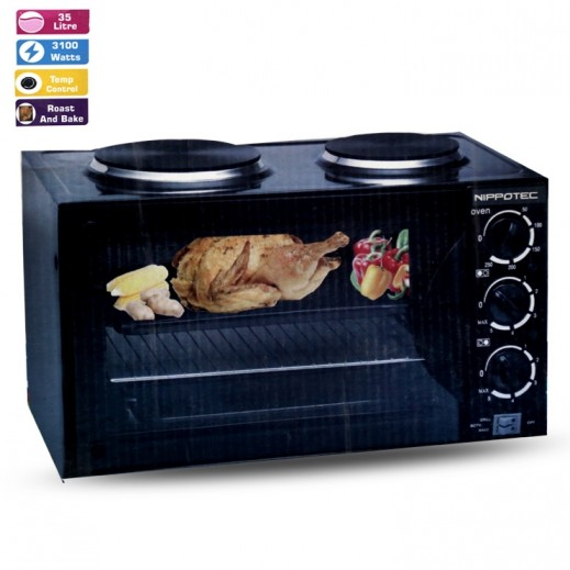 Nippotec Electric Oven with 2 Hotplates