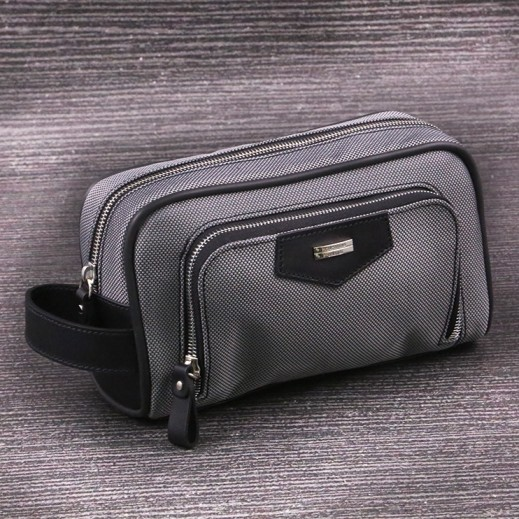 Valentino Orlandi 602 Plain Yacar Gray Men's Hand Bag - delivered by My Fair Lady Within 2 Working days