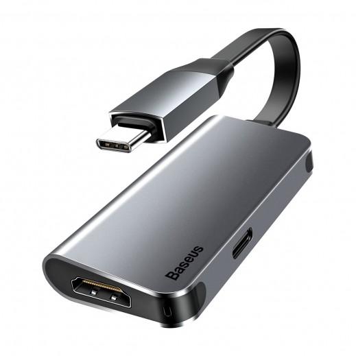 Baseus Type-C to HDMI + Type-C HUB converter - Dark Grey