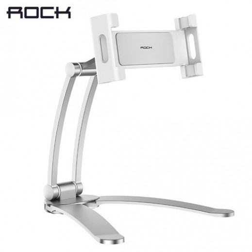 Rock Universal phone and tablet stand – White - delivered by Taw9eel Warehouse Next day