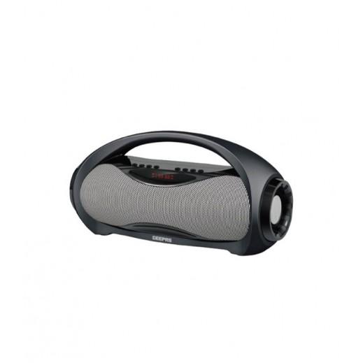 Geepas Rechargeable Bluetooth Speaker - Black & Gray