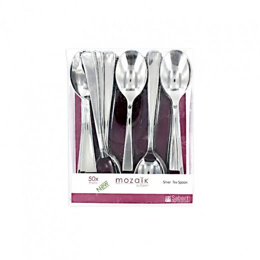 Value Pack-Mozaik Metalized Silver Tea Spoon 50 (3 pieces)