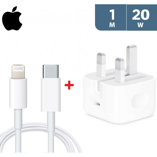 Apple 20W USB-C Power Adapter + Apple USB-C to Lightning Cable 1 m - White