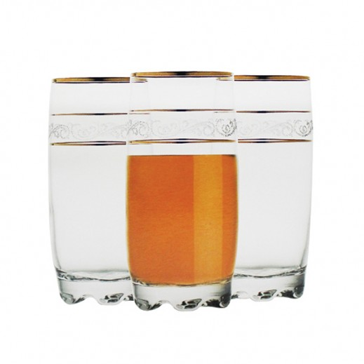 Gurallar Sultan 390 Ml Glass Tumbler Set (6 pieces)