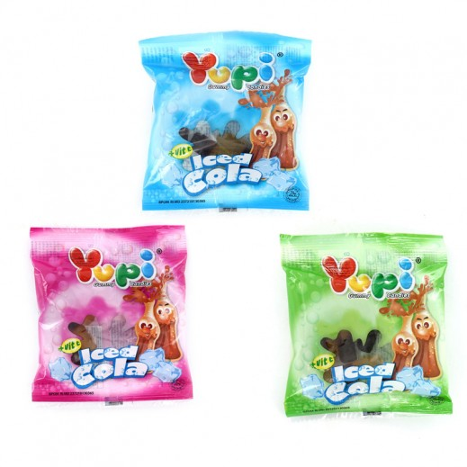 Yupi Jelly Candy Iced Cola 17.5 g (24 pieces)
