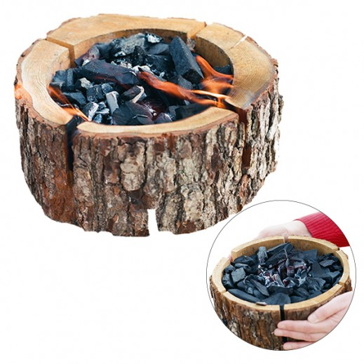 Ecogrill Barbecue Wood Grill with Charcoal (24x10 cm)
