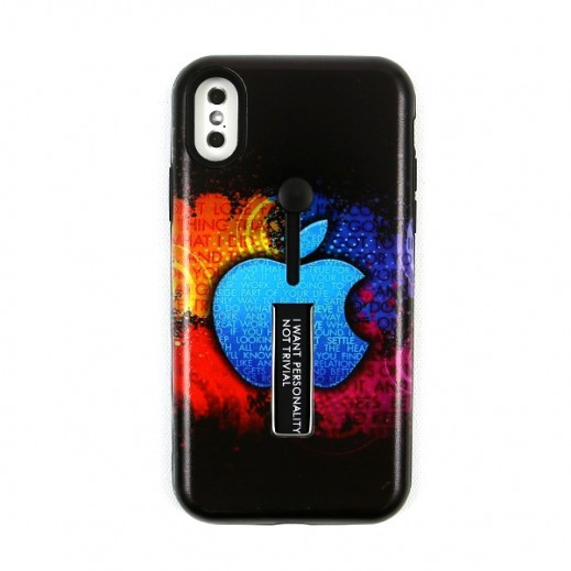 Boter Unique Case & Holder for iPhone X – Black & Colorful
