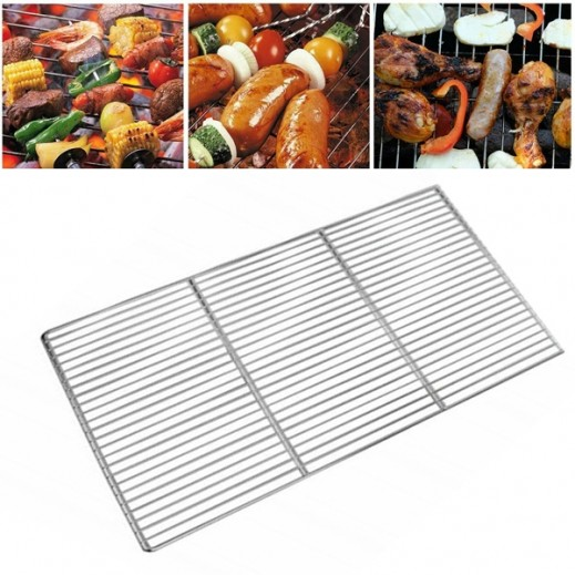 Chrome Plated Barbeque Grate 66 x 26 cm