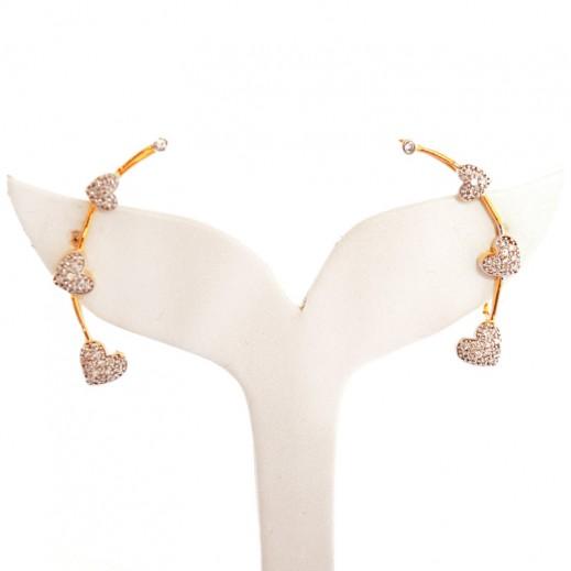 Bling - Ear Cuffs Big Hearts
