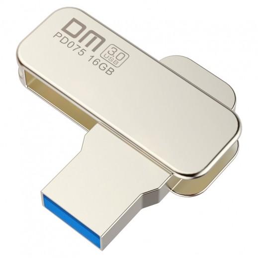DM Life USB 3.0 Metal Flash Drive 360° Rotating 16 GB - Silver