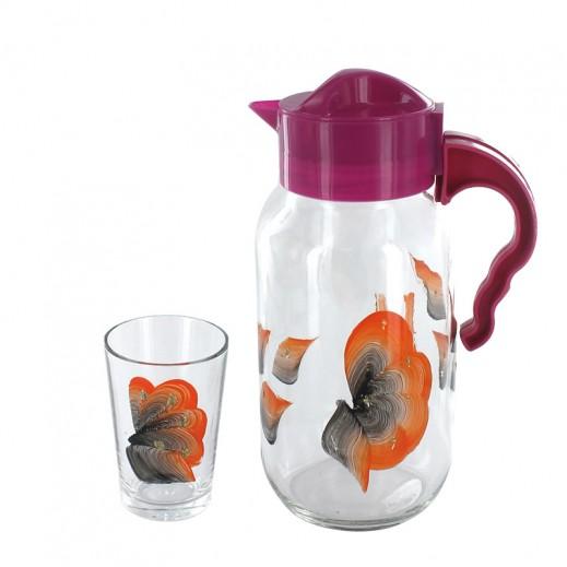 Atacam 7 pieces Glass Beverage Set Pink