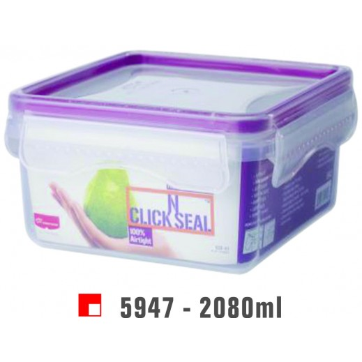 Princeware Click N Seal Square Container 2080 ml