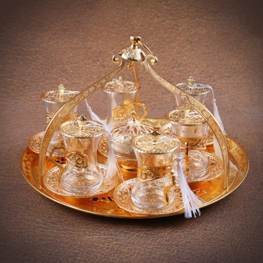 Otantik Traditional Istiakana Set with Tray -20 Pieces